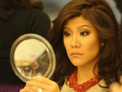 Julie Chen prepares for the day's chatfest. Hair, makeup and wardrobe is all in a day's work.