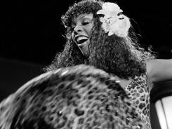 Donna Summer is hot stuff during a concert at the Universal Amphitheater in Los Angeles.