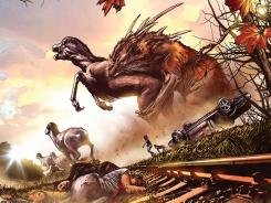 Post-apocalyptic monsters and giant beasts run rampant in the upcoming Image Comics one-shot Enormous.