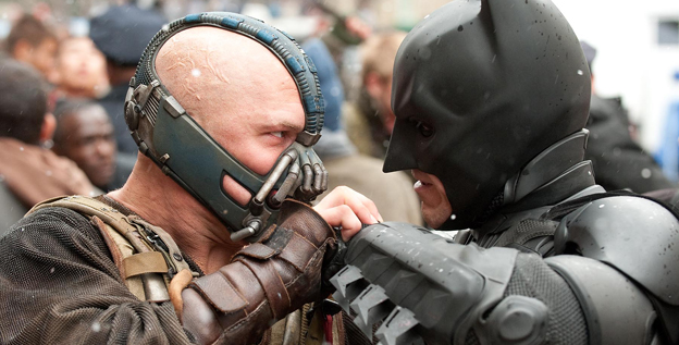 Tom Hardy (left) will star as the villain Bane alongside Christian Bale in 'The Dark Knight Rises,' the conclusion to Christopher Nolan's Batman Trilogy.