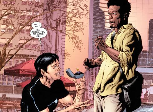 ... his boyfriend Kyle to marry him in the new issue of Astonishing X-Men.