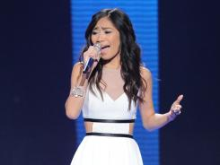 'American Idol' finalist Jessica Sanchez belts it out during last week's elimination show.