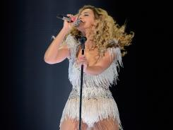 Beyonce performs on stage at Ovation Hall at Revel Resort & Casino on Friday in Atlantic City.