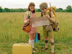 Stars on the 'Moonrise': Kara Hayward, left, and Jared Gilman make their feature film debuts as the protagonists of 'Moonrise Kingdom.'