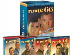 The complete series of 'Route 66,' starring Martin Milner and George Maharis, is now available on DVD.