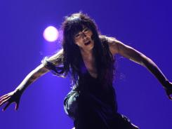 Sweden's Loreen performs during the dress rehearsal of the Grand Final of the Eurovision 2012 song contest in the Azerbaijan's capital Baku.
