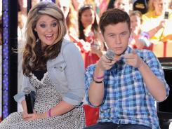 """American Idol"" runner-up Lauren Alaina and winner Scott McCreery perform on NBC's ""Today"" on June 2, 2011, in New York City."