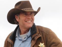 Australian actor Robert Taylor plays Wyoming Sheriff Walt Longmire in A&E's new Western.