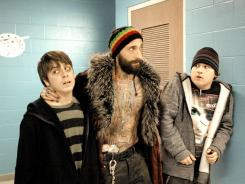 Matt Bush, left, Adrien Brody and Sean Marquette star in the stoner comedy 'High School.'