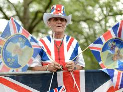 A royal family fan gets into the Diamond Jubilee spirit as final preparations are made for the Queen's big event.
