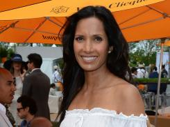 TV personality Padma Lakshmi was among the stars on hand for Saturday's Veuve Clicquot Polo Classic.