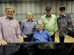 Bruce Johnston, left, Al Jardine, Brian Wilson, Mike Love and David Marks of the Beach Boys.