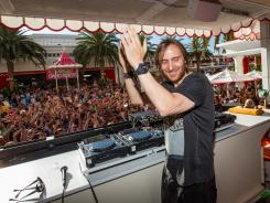 "EDM is ""the new sound of American pop music,"" says DJ David Guetta, performing here at Steve Wynn's Encore Beach Club."