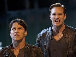 Bill (Stephen Moyer, left) and Eric (Alexander Scarsgard) are amusing when they fight over Sookie, and even more amusing when they're forced to work together.