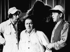Larry Fine, left, Curly Howard and Moe Howard were one iteration of the Three Stooges.