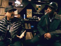 In his directorial debut, Ice-T, left, interviews more than 40 hip-hop pioneers and friends, including Chuck D in the documentary 'Something From Nothing: The Art of Rap.'
