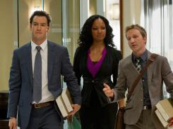 Mark-Paul Gosselaar, Garcelle Beauvais and Breckin Meyer star in 'Franklin & Bash.'