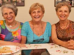 Teresa Dahlquist, 70, left, Mary Bartnicki, 80, and Teresa's twin, Josie Cavaluzzi, have become Internet stars, through YouTube and a website. Next? A possible TV show.