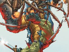 Frankenstein battles ninja bugs and has to find a mole in his organization in the new story line of Frankenstein, Agent of S.H.A.D.E.