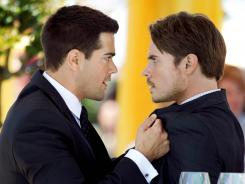 Bobby's and J.R.'s sons, Christopher (Jesse Metcalfe, left) and John Ross (Josh Henderson, right), both want Southfork and their now-grown childhood companion Elena (Jordana Brewster) on 'Dallas.' Schemes and double-crosses abound.