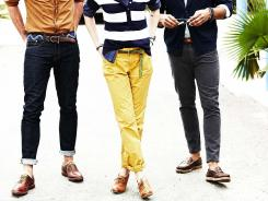 Cropped, cuffed, rolled and even pegged pants, jeans and trousers are on the rise this summer.