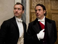 'Sherlock Holmes: A Game of Shadows' starring Jude Law, left, and Robert Downey Jr., is this week's Platinum Pick.