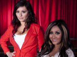 "Jenni ""JWOWW"" and a pregnant Nicole ""Snooki"" Polizzi talk about their 'Jersey Shore' spinoff show 'Snooki & JWOWW.' ""I don't think it will beat 'Jersey Shore,' but our fans are so great and we have so much support from young girls,"" says Polizzi."