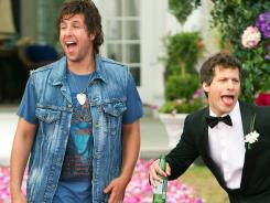 Adam Sandler, left, and Andy Samberg star in 'That's My Boy.' It's Samberg's first major movie role.