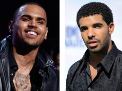 Singer Chris Brown, left, got into a fight with rapper Drake's entourage. The club where the brawl took place has been closed.