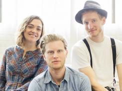 Neyla Pekarek, left, Wesley Schultz and Jeremiah Fraites are The Lumineers.