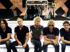 Still rocking after 35 years: Vivian Campbell, left, Phil Collen, Rick Savage, Joe Elliott and Rick Allen.
