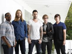 Full exposure: PJ Morton, left, James Valentine, Adam Levine, Mickey Madden and Matt Flynn, and of Maroon 5 get a little nasty on their new album.