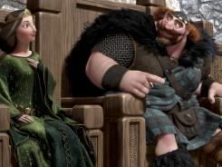 Queen Elinor (Emma Thompson) and King Fergus (Billy Connolly) reign over Pixar's 'Brave.'