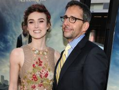Keira Knightley and Steve Carell arrive at the premiere.