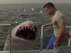 Joey Russo dodges a man-eating giant near Seaside Heights, the town made famous by the MTV crew, in 'Jersey Shore Shark Attack.'