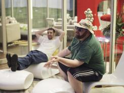 Contestants Apollo, left, and Jeffrey make their reality TV debuts during the premiere episode of 'The Glass House'