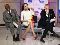 Just a year as co-host: Ann Curry and Matt Lauer during the 60th anniversary episode of 'Today.'