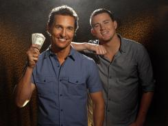 Looking like a million dollars — even clothed: Matthew McConaughey, left, and Channing Tatum were the first two stars to sign on to 'Magic Mike.'