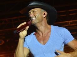 On Tim McGraw's current tour, he closes his set with the new song 'Truck Yeah.'