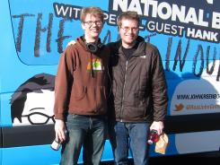 Brothers Hank, left, and John Green's first two summer book club selections drew a combined 800,000 YouTube views.