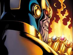 In October's Thanos: Son of Titan, readers will find out how the cosmic baddie came to be a galactic threat to civilization.