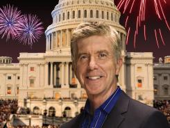 "Tom Bergeron of 'Dancing With the Stars' says, ""The opportunity to be the host, on live TV, for the nation's biggest birthday party was just too good to pass up."" He hosts 'A Capitol Fourth' from the West Lawn of the U.S. Capitol building."