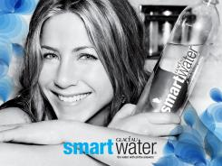 SmartWater's best friend: Jennifer Aniston has been the face of the bottled water brand since 2007.