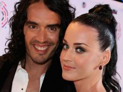 Happier days: Katy Perry and Russell Brand wed in 2010.