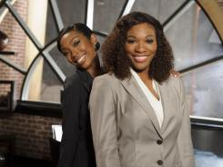 Singer Brandy Norwood, left, and athlete Serena Williams on the set of Lifetime's 'Drop Dead Diva.' The stars will join the long list of celebs who have made a guest appearance on the show.