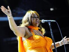 Aretha Franklin performs at the Essence Music Festival in New Orleans on Sunday.