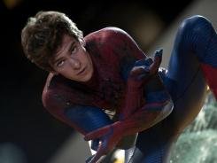 Could be sticking around a while: Young British star Andrew Garfield is the latest actor to don the Spider-Man suit.