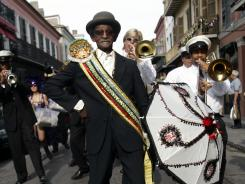 The vocalist, bass drummer and assistant band leader of the Treme Brass Band has died at age 81.