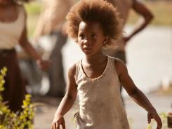 Quvenzhane Wallis endures a terrible storm and inner fears in 'Beasts of the Southern Wild.'