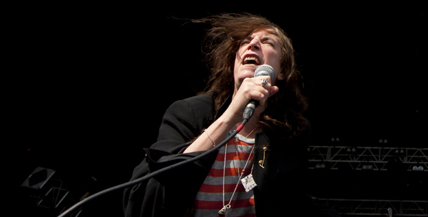 Patti Smith performs at the Hop Farm festival in Paddock Wood, Ky. Check out Smith's version of the Neil Young classic 'After the Gold Rush' from her new album 'Banga.'